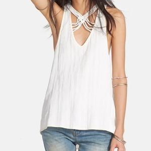 Free People Ivory One & Only Tank Size Small